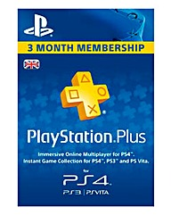 PS Plus 3 Month Subscription Card