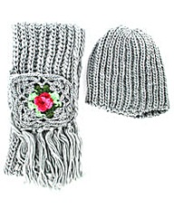 knitted Hat And Scarf Set