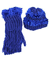 Soft Fur Effect Hat And Scarf Set