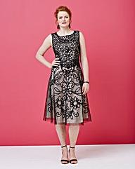 Nightingales Layered Cornelli Dress