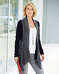 Nightingales Stripe Cardigan with Chain
