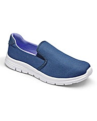 Be Active Slip On Memory Foam Trainers E