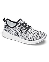 Be Active Knitted Lace Up Trainers E Fit