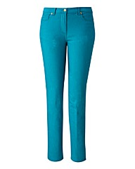 TRULY WOW Coloured Slim Leg Jeans Long