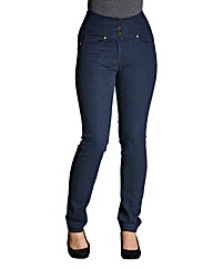 Waist Smoother Slim Leg Jeans Short
