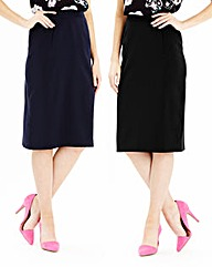 Pack of 2 Plain Pencil Skirts