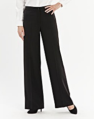 Basic Wide Leg Trousers Length 27in
