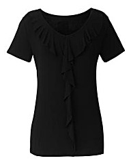 Frill Detail Jersey Top