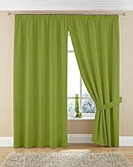 Plain Dye Twill Pencil Pleat Curtains