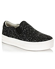 Ash Black Leather Slip On Trainer