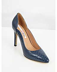 Lovedrobe Faux Snake Skin Court Shoes