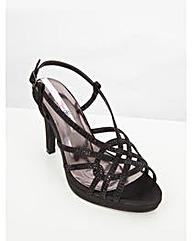 Lovedrobe Embellished Heeled Sandals