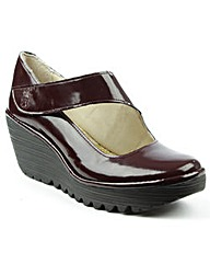 Fly London Burgundy Patent Mary Jane