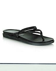 Daniel Black Diamante Toe Post Sandal