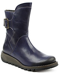 Fly London Blue Buckled Ankle Boot