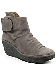 Fly London Grey Rouched Ankle Boot