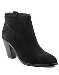 Ash Black Suede Cowboy Ankle Boot