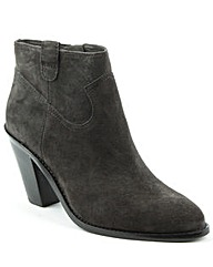 Ash Grey Suede Cowboy Ankle Boot