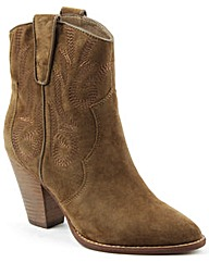 Ash Tan Suede Leather Ankle Boot