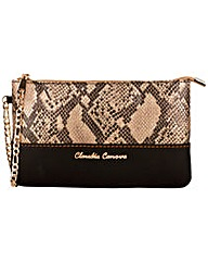 Claudia Canova Small Snake Effect Zip