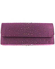 Diamante Satin Clutch