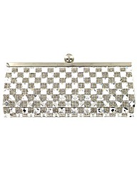 Square diamante clutch bag
