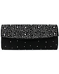Diamante Studded Clutch Bag