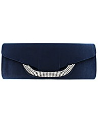Satin Clutch Bag Diamante Clasp