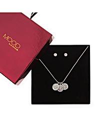 Mood Triple Coin Drop Jewellery Set