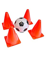 Football and Cones Set