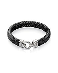 Fred Bennett Wide Leather Hook Bracelet