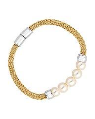 Jon Richard Pearl Mesh Magnetic Bracelet