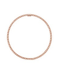 Simply Silver Rose Gold Beaded Bangle