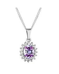 Simply Silver Purple Kate Pendant