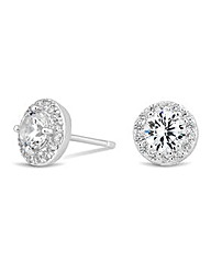 Simply Silver Halo Stud Earring
