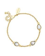 Jon Richard Crystal Teardrop Bracelet