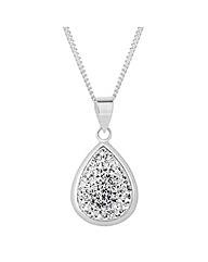 Simply Silver Crystal Teardrop Pendant