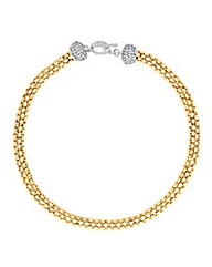 Jon Richard Two Tone T-Bar Necklace