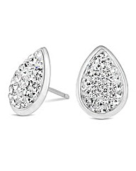 Simply Silver Crystal Teardrop Earring