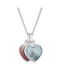 Simply Silver Hearts Pendant