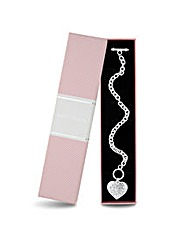 Jon Richard Crystal Heart T-Bar Bracelet