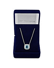 Jon Richard Blue Cubic Zirconia Necklace