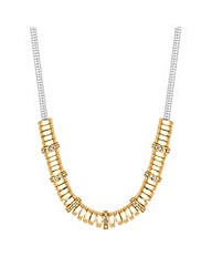 Jon Richard Crystal Two Tone Necklace