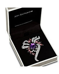 Jon Richard Purple Stone Twist Brooch