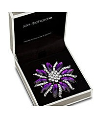 Jon Richard Purple Crystal Brooch