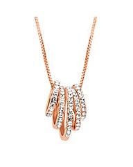 Jon Richard Rose Gold Crystal Necklace