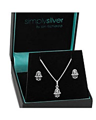 Simply Silver Hand of Fatima Set