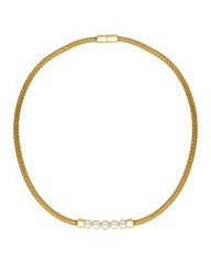 Jon Richard Polished Gold Pearl Necklace