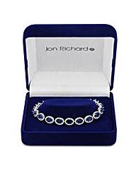 Jon Richard Oval Cubic Zirconia Bracelet
