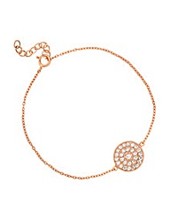 Simply Silver Rose Gold Crystal Bracelet